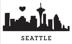 """The wildly popular """"Urban Love"""" suite from Kleinfeld Paper is now available with the Seattle Skyline. Say """"yes"""" to Kleinfeld Paper with this great design. For a closer look at the whole invitation (but with the NY skyline) take a peek at the Urban Love design on our Simple/ Modern Invitations Pinterest board. Customize yours with Paper Passionista."""