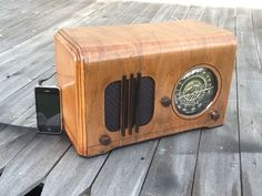 Turn Old Radio into an IPhone speaker.  I finally know what to do with my grandfathers old radio that I have been keeping in the closet for years!