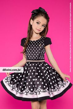 Girl Dress Diforini Moda Infanto Juvenil Diforini Children's Dress EXCLUSIVE Ideal dress for parties or for casual wear - your Princess will: lavish ch. Young Girl Fashion, Preteen Girls Fashion, Little Girl Fashion, Kids Fashion, Little Girl Outfits, Cute Girl Outfits, Kids Outfits, Cute Girl Dresses, Pretty Dresses
