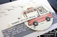 Stampin Up Saleabration 2017 Stamp Set Tasty Trucks as a My Whippy Van. Get this set free with a $90 order before 31st March. Claire Daly Stampin Up Demonstrator Melbourne Australia.