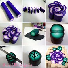 Rose cane - step by step