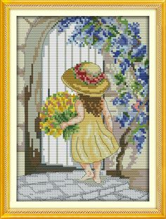 Dedicated Pink Roses Flowers Home Decor Paintings Counted Printed On Canvas 14ct 11ct Chinese Cross Stitch Needlework Kits Embroidery Sets Cross-stitch