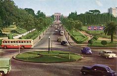 20 fotos lindas da cidade de São Paulo de 1924 a 1980 Douglas Nascimento / Via saopauloantiga.com.br Cartão postal dos jardins do Museu Paulista. (sem data)