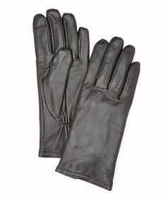 This Black Leather Gloves is perfect! #zulilyfinds