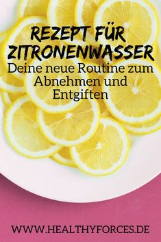 10 Facts über das Schlankwasser Lemon water is your start to the day – if you want to benefit from the health benefits. Because the slim water can help you lose weight and detoxify your body Water Recipes, Detox Recipes, Healthy Smoothies, Healthy Drinks, Detoxify Your Body, Lose Weight, Weight Loss, Detox Plan, Lemon Water
