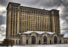 Michigan Central Station - Detroit, Michigan: Built through 1912 and 1913, Central Station served as the passenger rail depot for Detroit and was the tallest train station in the world. With the closure of the line in 1988, Central Station fell into disuse and all restoration plans have failed.