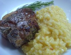 Rosemary Garlic Lamb Loin Chops with Saffron Risotto Lamb Recipes, Greek Recipes, Meat Recipes, Cooking Recipes, Easter Dinner, Holiday Dinner, Lamb In Oven, Lamb Loin Chops, Lamb Dinner