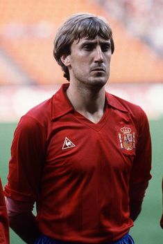 Antonio Maceda during the Football European Championship ( Euro 1984 ) between Romania and Spain at Stade Geoffroy Guichard, Saint-Etienne, France on 14 June, 1984