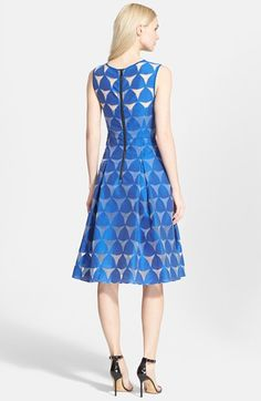 Free shipping and returns on Milly 'Prism' Fil Coupé A-Line Dress at Nordstrom.com. An airy layer of Italian fil coupé floats over the figure on a stunning sleeveless dress finished with a broadly pleated A-line skirt.