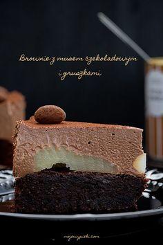 Czekoladowe musowe ciasto gruszkowe