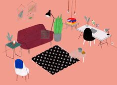 Interior illustrations - liannenixon