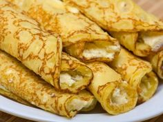 You won't want to pass over these blintzes. Blintz pancakes made with matzo meal are stuffed with a creamy cottage cheese filling. Absolutely sublime when served with some good jam or preserves.