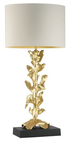 Table Lamps, Designer Gold Leaf  Lamp, so beautiful, one of over 3,000 limited production interior design inspirations inc, furniture, lighting, mirrors, tabletop accents and gift ideas to enjoy repin and share at InStyle Decor Beverly Hills Hollywood Luxury Home Decor enjoy & happy pinning