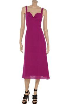 L'Wren Scott Silk-crepe sweetheart dress - 70% Off Now at THE OUTNET