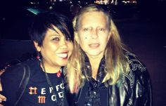 Walking in L.A. with Dale Bozzio of Missing Persons.