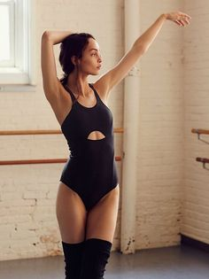 Free People Movement Law of Attraction Bodysuit Medium NWT Black #FreePeople #bodysuit