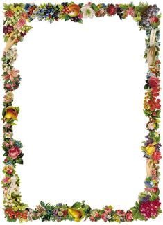 Free Victorian Flowers And Vintage Fruit Clip Art And Borders