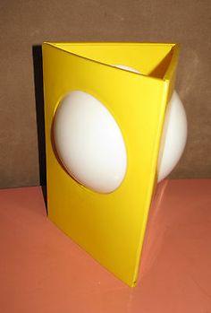 Vintage 1960's Triangle Table Lamp Mid Century Modern Panton Kartell Era