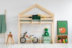 Hochbett Dalida, 90 x 190 cm Selsey Living, Futon Bunk Bed, Twin Bunk Beds, Kids Bunk Beds, Ikea Kura Bed, Double Loft Beds, Mezzanine Bed, House Beds For Kids, Childrens Bunk Beds, High Sleeper Bed