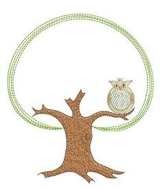 "Embroidery Freebies Stickmuster   Stickdatei / Stickmotiv ""Eulenbaum"" - Stickdateien-Shop.de"