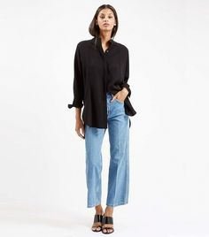 Topshop Moto Wide Leg Cropped Jeans