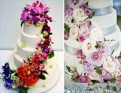Cake Decoration, Creative Wedding Cake Design Ideas Applying Fresh Flowers Ornaments: Unique Wedding Cakes With Fresh Flowers Toppers