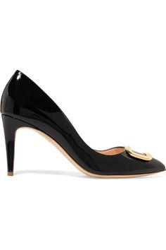 bccf0c6a107 Rupert Sanderson - Nana O Pebble Embellished Patent-leather Pumps - Black  Black Patent Leather