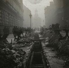 London City roadworks, 1910