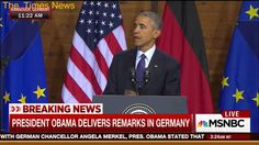 Sad: Obama compelled to remind Germany of his 2008 Berlin speech at beginning of remarks