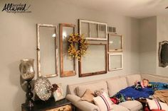 11 totally Unexpected Ways to Fill Your Blank Walls (in Minutes!) s 11 totally unexpected ways to fill your blank walls in minutes, repurposing upcycling, wall deco Old Window Frames, Empty Frames Decor, Wall Of Frames, Old Window Ideas, Empty Wall Spaces, Funky Junk Interiors, Blank Walls, Window Design, Wall Design