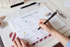 Seeso The Weekly Times Weekly Planner    Desk Scheduler perfect for organising and scrapbooking