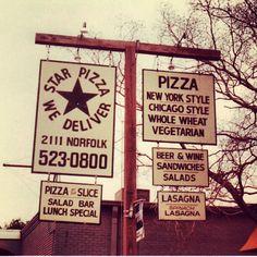 Our original sign, circa 1976.