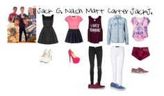 """""""First date with the Magcon Boys. ♥"""" by meow-vanessa ❤ liked on Polyvore featuring Topshop, Jane Norman, Uniqlo, Vero Moda, Victoria's Secret PINK, J Brand, Christian Louboutin, Vans, Jackjohnson and nashgrier"""