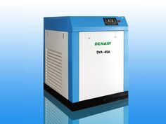 DENAIR Standard Type Variable Frequency Oil Injected Screw Air Compressor   The value of the variable frequency compressor Advantage of Starting  Low noise  Variable flow rate control Stabilivolt No Waste of High Pressure  Technical Parameters Model: DVA-45 Working Pressure (MPa): 0.75 Air Delivery (m3/min): 3.24-8.6 Voltage and IP Grade: 380V IP54 Noise(DB): 75±3 Outlet Pipe Diameter (inch): G1 1/2'' Starting Method: Belt Dimension (mm) L: 1200, W: 1350, H: 1500 Weight (kg): 850