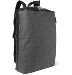 Maison Martin Margiela - Leather and Felt Backpack MR PORTER