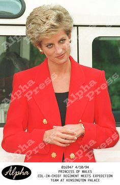 """PRINCESS DIANA.""""COL-IN-CHIEF REGIMENT MEETS EXPEDITION TEAM"""".-AT KENSINGTON PALACE"""