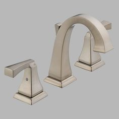 Delta Dryden 3551LF Double Handle Widespread Bathroom Sink Faucet - D3551LFSS