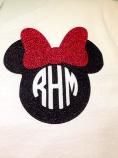Personalized Disney Minnie Mouse shirt by MissSophiesBoutique, $18.00
