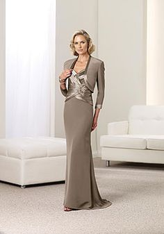 Sweetheart Silk Like Satin empire Mermaid gray Mother of the Bride Dress - Dress2015.com