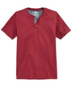 American Rag Chambray-Trim Henley T-Shirt