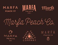 Saved by Isaac Contreras (easyizzy). Discover more of the best Branding, Marfa, Peach, and Lettering inspiration on Designspiration Graphic Design Branding, Lettering Design, Identity Design, Logo Design, Brand Identity, Typography Letters, Typography Logo, Logo Branding, Restaurant Branding