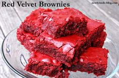 Red Velvet Brownies Recipe Desserts with all-purpose flour, unsweetened cocoa powder, large eggs, pure vanilla extract, unsalted butter, brown sugar, unsalted butter, granulated sugar, brown sugar, large eggs, red food coloring, pure vanilla extract, all-purpose flour, unsweetened cocoa powder, salt