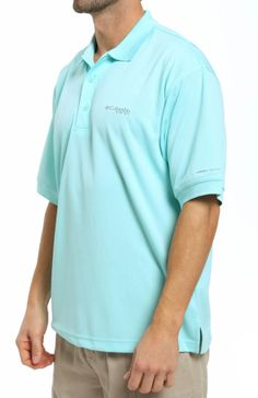 212274d0f91 Columbia Perfect Cast PFG Polo FM6016 Columbia Shirt, Collared Shirts, Chef  Jackets, It