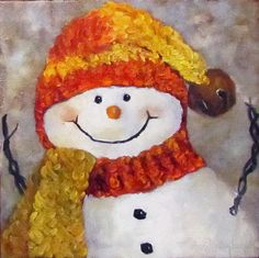 Snowman V - Christmas Series Poster By Cheri Wollenberg