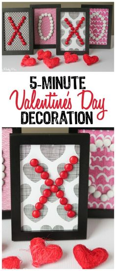 Easy Valentine's day decoration idea that you can make in less than 10 minutes!