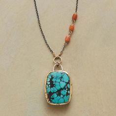 Jes MaHarry Turquoise Love Necklace                                              | Robert Redford's Sundance Catalog