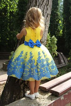 Cheap puffy pageant dresses, Buy Quality communion dresses directly from China first communion dresses Suppliers: wejanedress Customized Yellow first communion dresses 2017 blumenkinder kleider lace puffy pageant dresses Baby Girl Party Dresses, Dresses Kids Girl, Cute Dresses, Kids Outfits, Dress Party, African Dresses For Kids, African Fashion Dresses, Yellow Flower Girl Dresses, Flower Girls