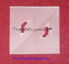 Cuadrado Templatesquick ® ™- plantilla plastico reutilizable