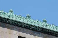 CPD copper gutters and their cheneau (ornamented crests)