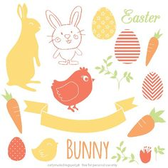 Free Vectors that you can use on Easter cards or decorations.